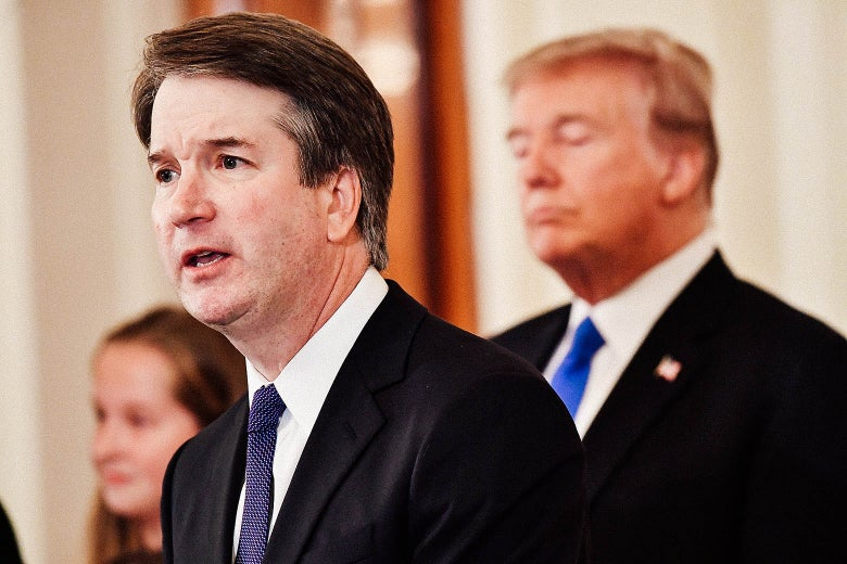 Supreme Court nominee Brett Kavanaugh in the East Room of the White House on July 9, 2018 in Washington, DC.