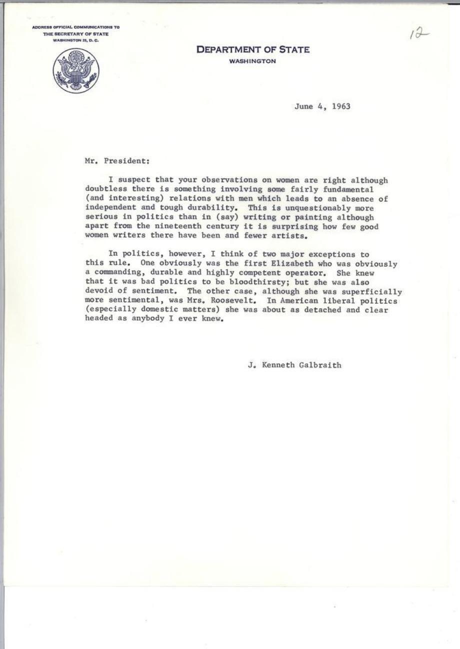 Galbraith Letter