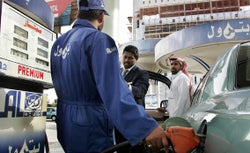Saudi gas station.