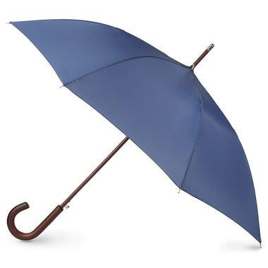 Totes Blue Line Auto Wooden Stick Umbrella