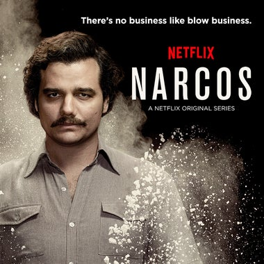 A promotional image for Netflix's Narcos.