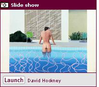 Click image to open a slide show on David Hockney.