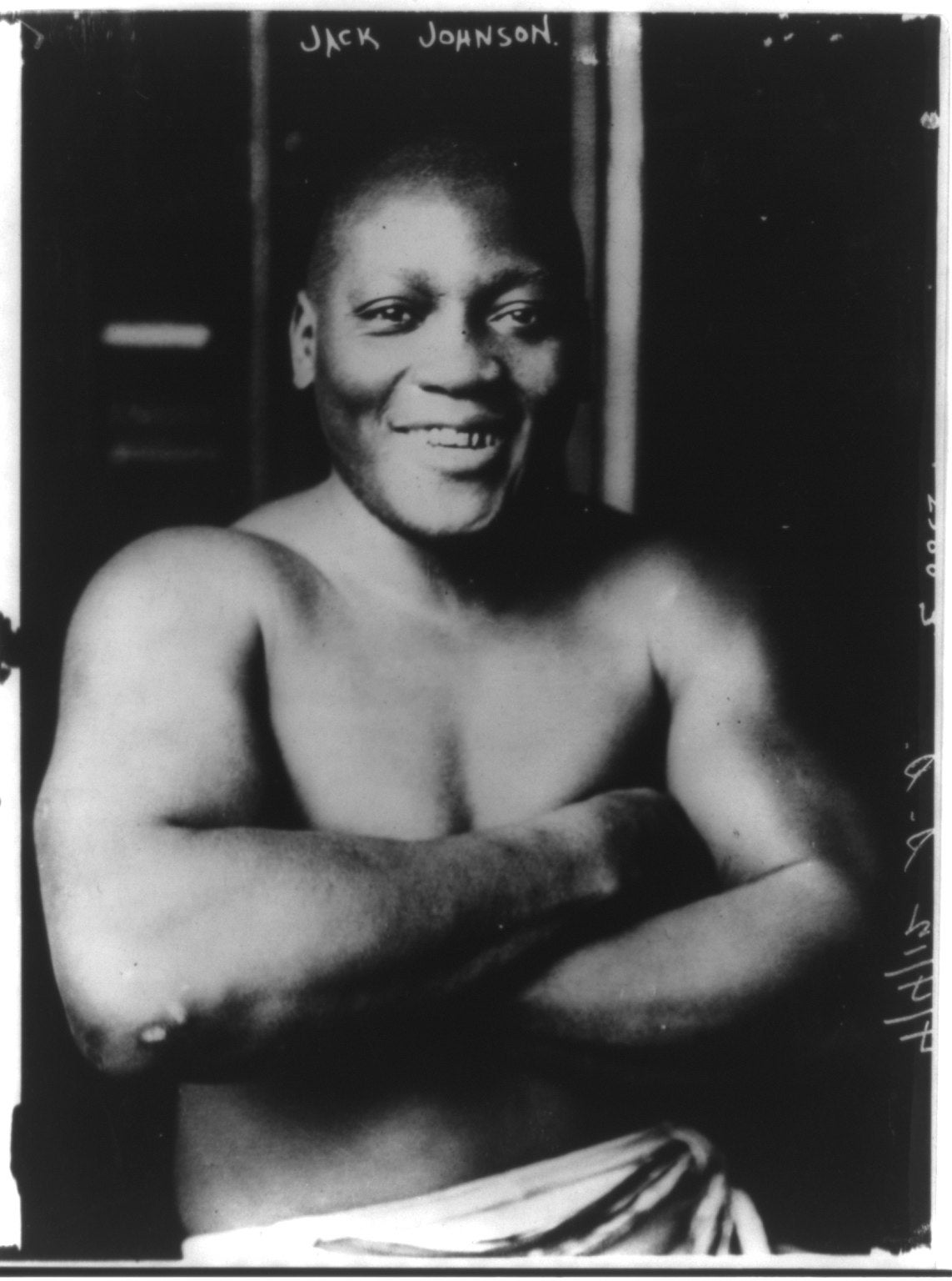 Jack Johnson is seen in this image from 1915.