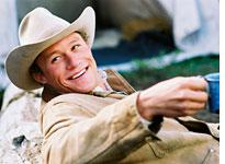 Heath Ledger in Brokeback Mountain.