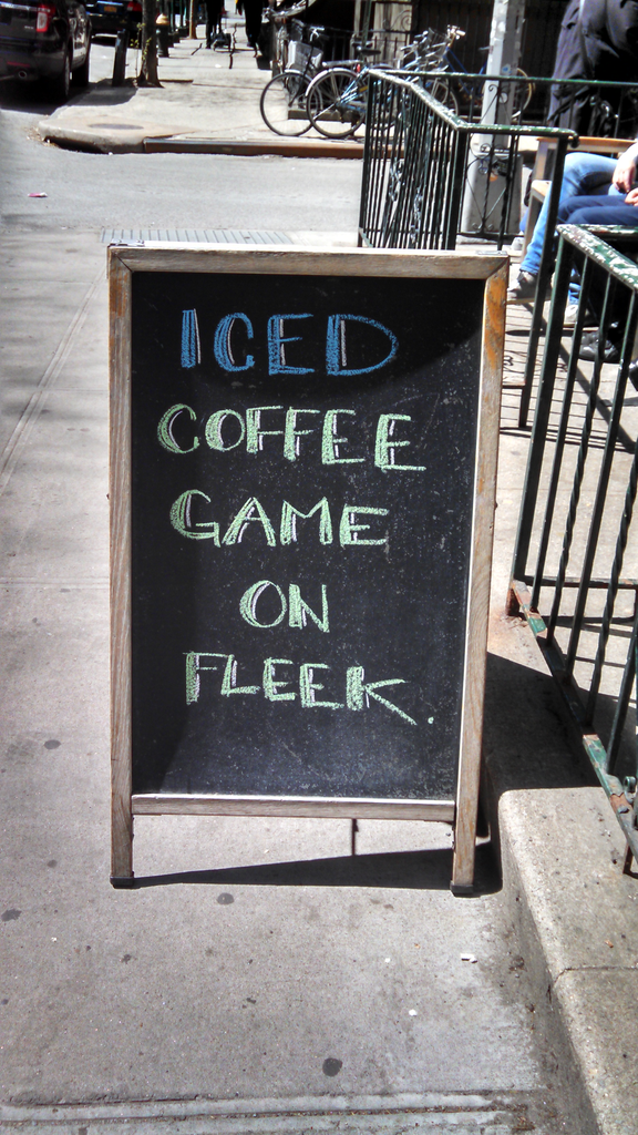 Against Overly Clever Sidewalk Sandwich Board Signs Why