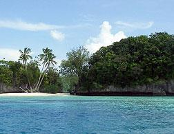 Rock islands in Palau. Click image to expand.
