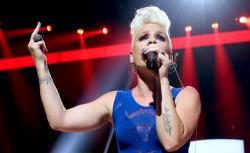 Pink performs onstage during the 2012 iHeartRadio Music Festival