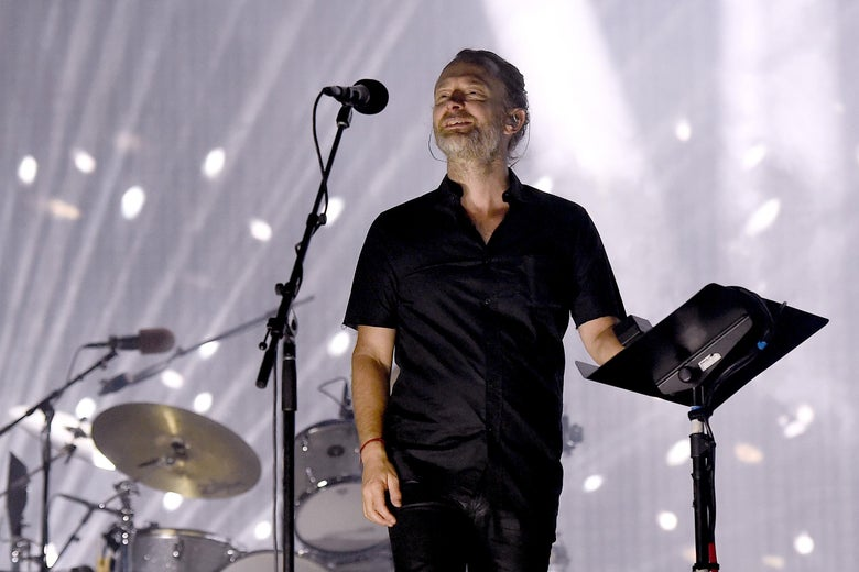 Musician Thom Yorke of Radiohead performs on the Coachella Stage