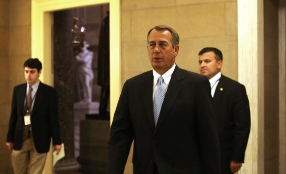 Speaker of the House Rep. John Boehner, R.-Ohio, returns to his office after a vote on the House floor Jan. 15, 2013, on Capitol Hill