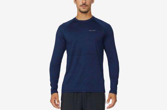 Baleaf Men's Cool Running Workout Long Sleeve T-shirt.