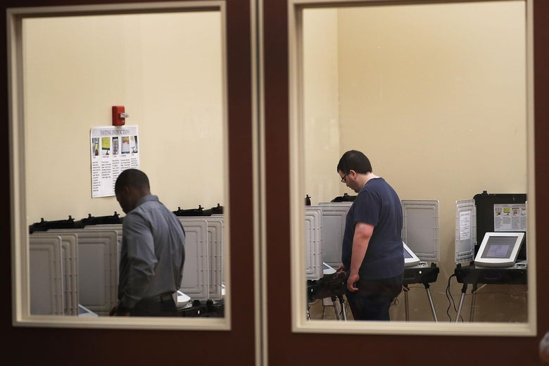 Voters cast their ballots in Georgia.