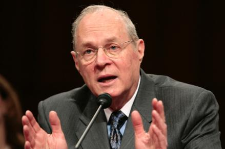 U.S. Supreme Court Justice Anthony Kennedy testifies about judicial security and independence before the Senate Judiciary Committee on Capitol Hill in Washington February 14, 2007.