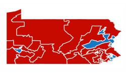Gerrymandered congressional districts in Pennsylvania