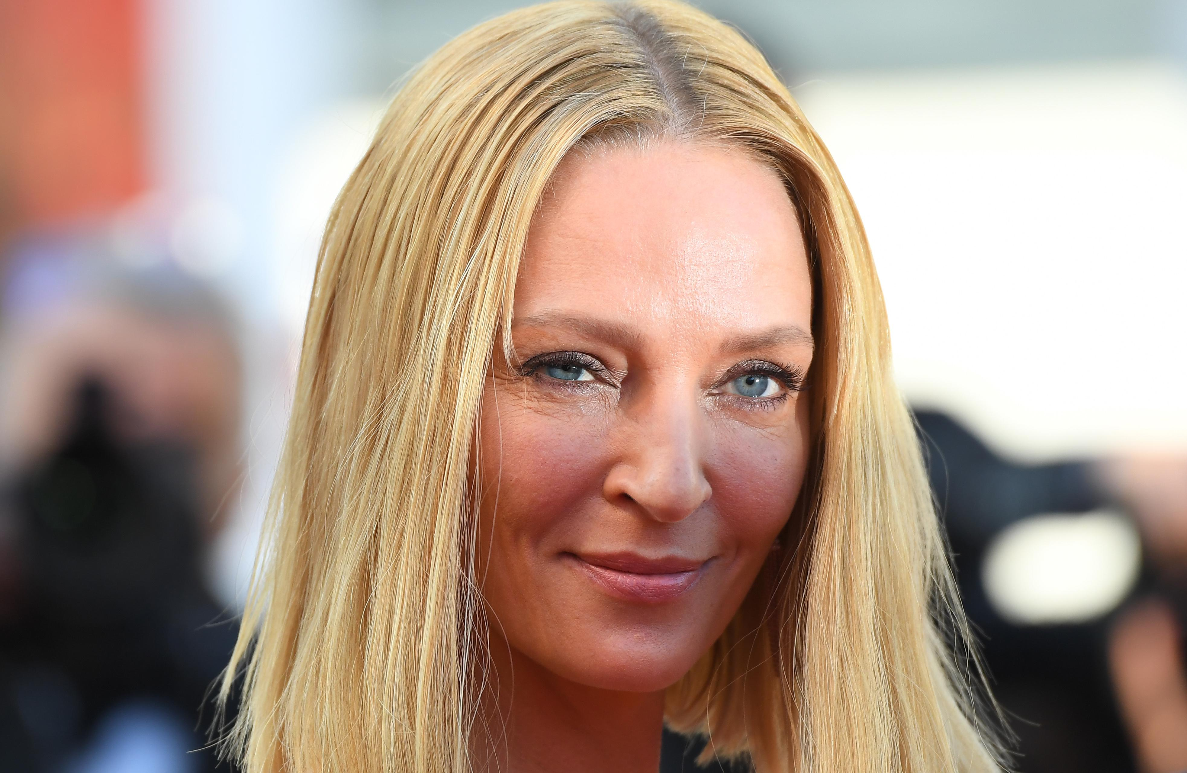 US actress and President of the Un Certain Regard jury Uma Thurman arrives on May 28, 2017 for the closing ceremony of the 70th edition of the Cannes Film Festival in Cannes, southern France.  / AFP PHOTO / Anne-Christine POUJOULAT        (Photo credit should read ANNE-CHRISTINE POUJOULAT/AFP/Getty Images)