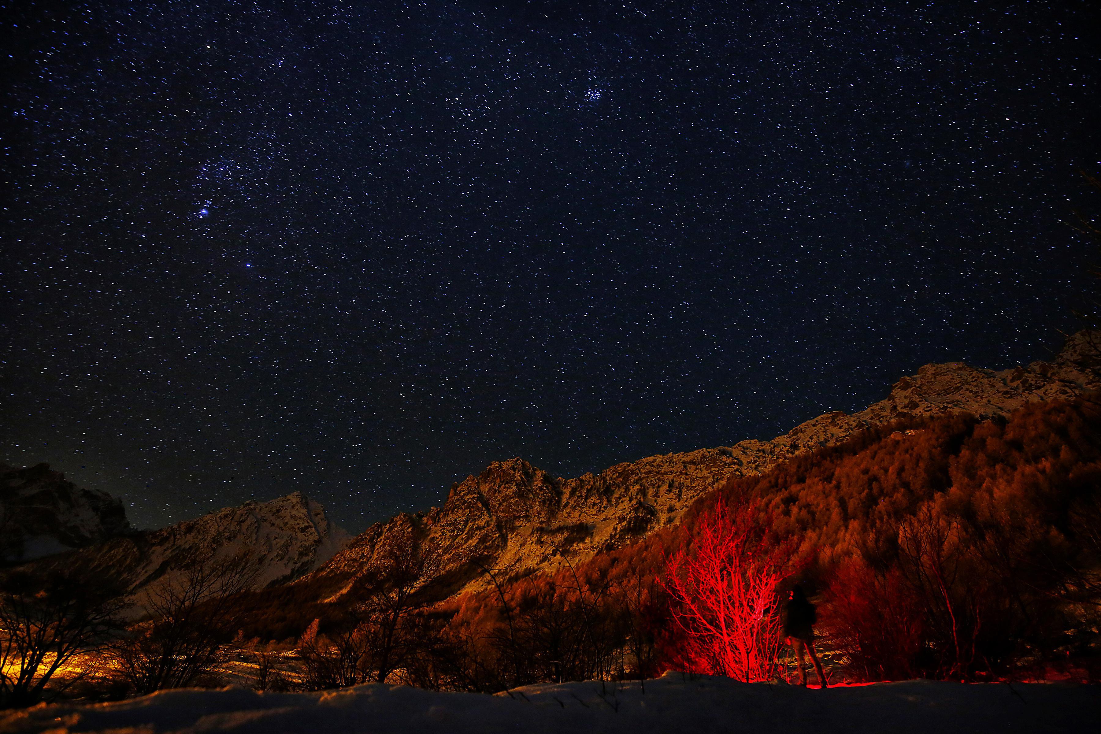 The Geminid meteor shower.