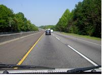 New Jersey Turnpike, from the back seat