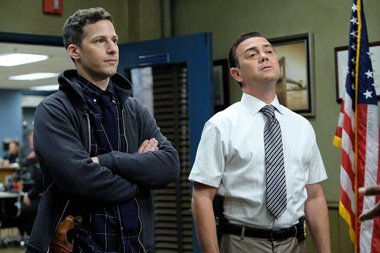 Andy Samberg and Joe Lo Truglio in Brooklyn Nine Nine