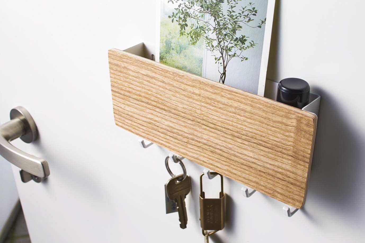 Yamazaki Rin Magnetic Key Rack with Tray