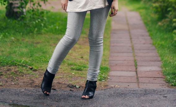 Silver Leggings.