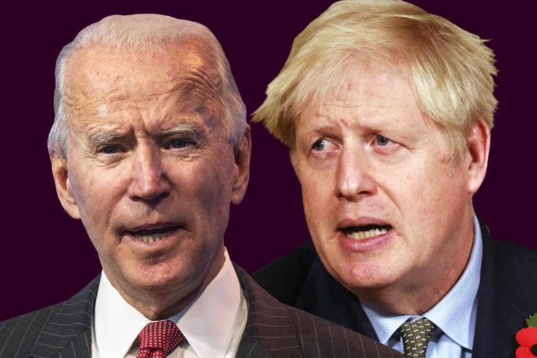 Joe Biden and Boris Johnson.