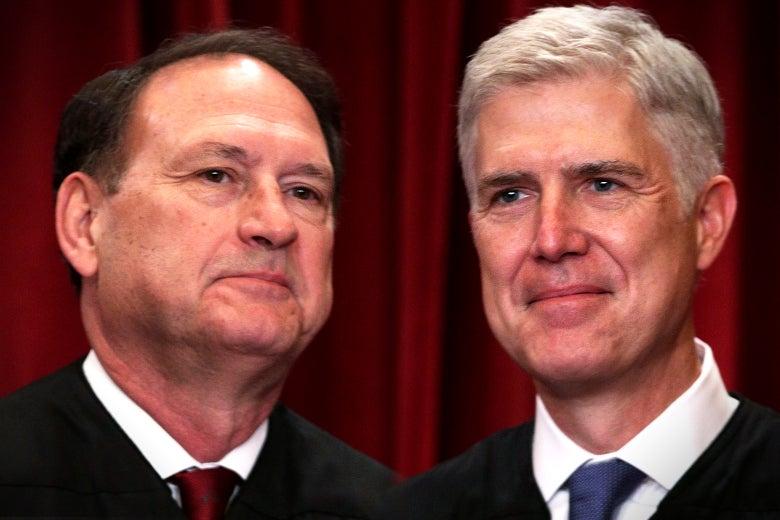 Supreme Court Justices Samuel Alito and Neil Gorsuch.