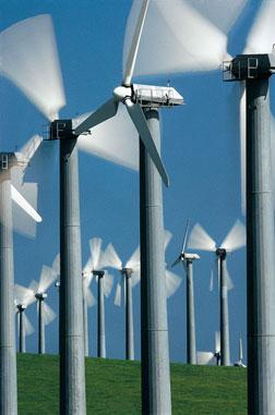 Wind Power Turbines, Tracy, California, USA.