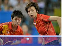 Guo Yue and Zhang Yining at the Beijing Olympics. Click image to expand.