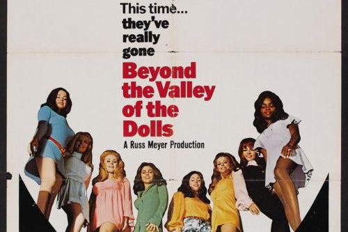 Movie poster from Beyond the Valley of the Dolls.
