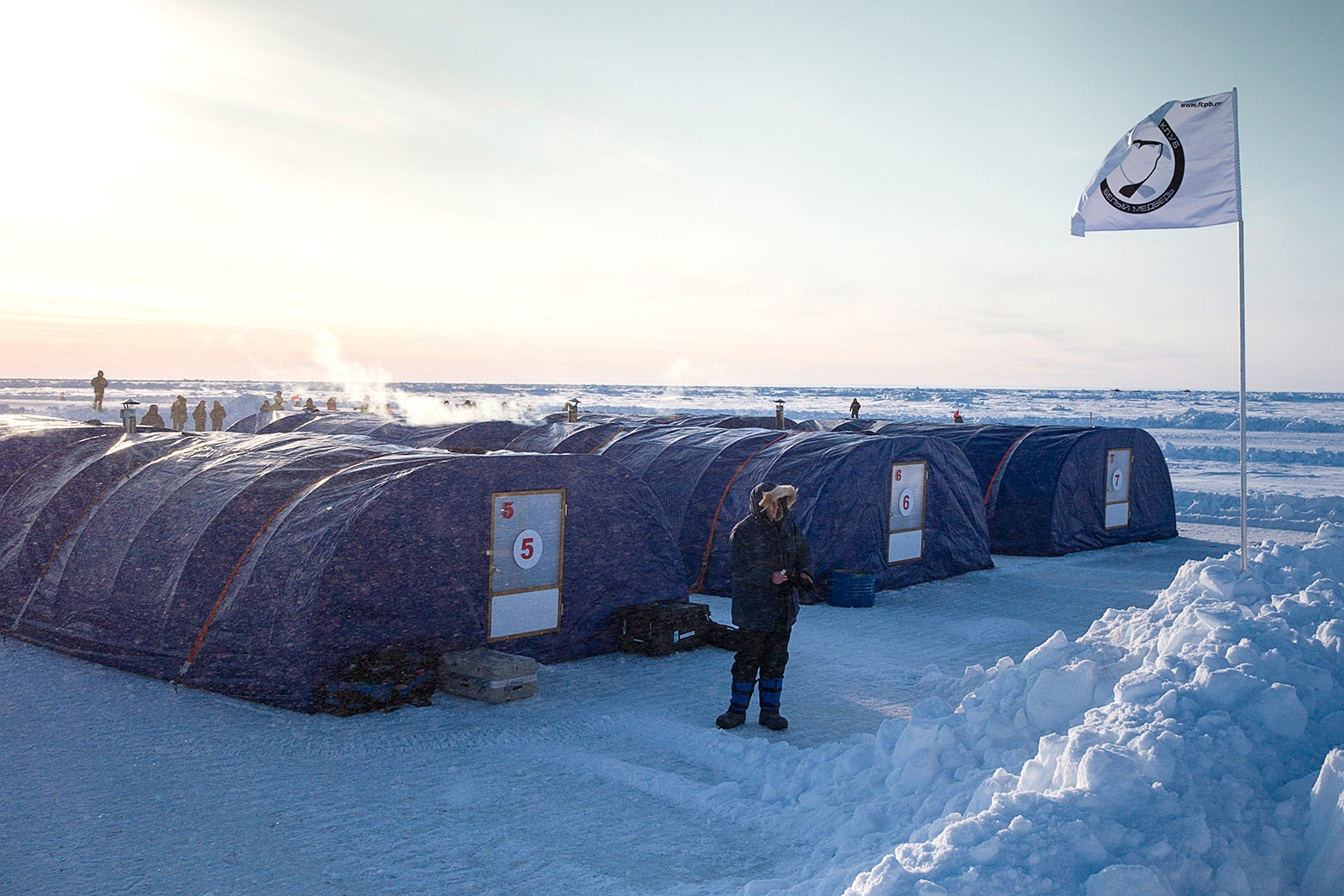 A Barneo expedition ice camp in 2016.