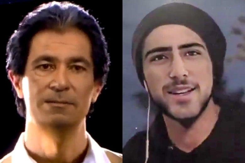 Holograms of Robert Kardashian and Joaquin Oliver.