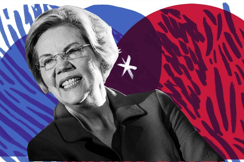 Elizabeth Warren, with that red, white, and blue