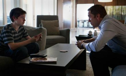 Jackson Pace as Chris Brody and Damian Lewis as Nicholas Brody in Homeland