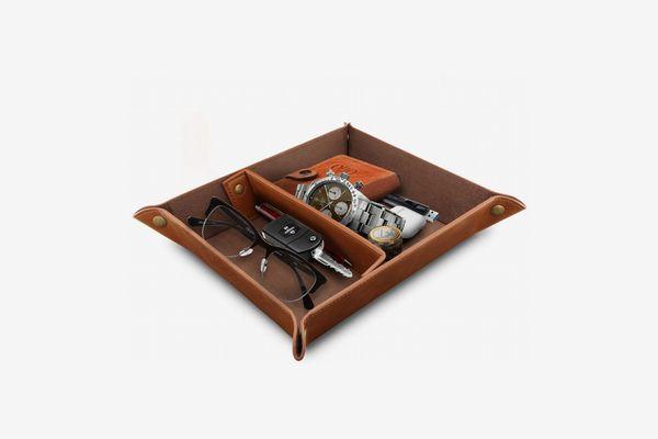 Londo Leather-Tray Organizer