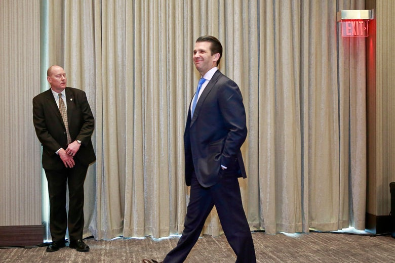 Donald Trump Jr. in Vancouver, British Columbia on Feb. 28.