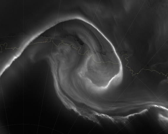 Aurora australis seen by Suomi NPP