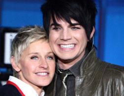 Ellen DeGeneres and Adam Lambert.