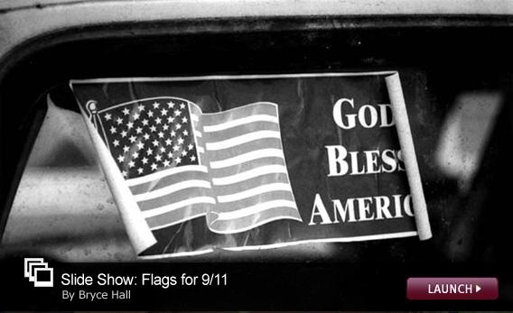 Slide Show: Flags for  9/11. Click image to launch slide show.