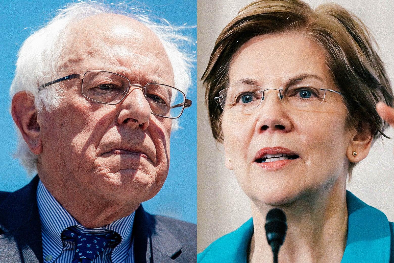 Sens. Bernie Sanders and Elizabeth Warren