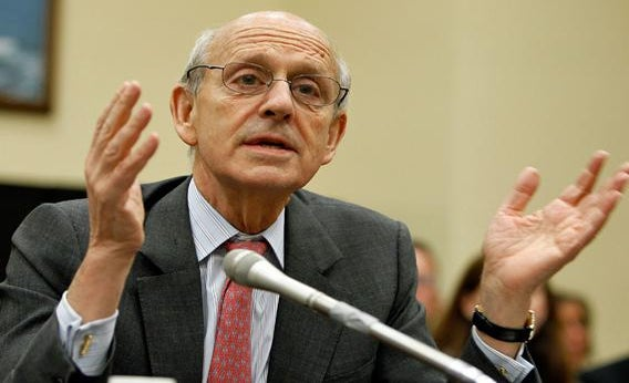 U.S. Supreme Court Justice Stephen Breyer testifies during a hearing before the Financial Services and General Government Subcommittee of the House Appropriations Committee April 15, 2010 on Capitol Hill in Washington, DC.