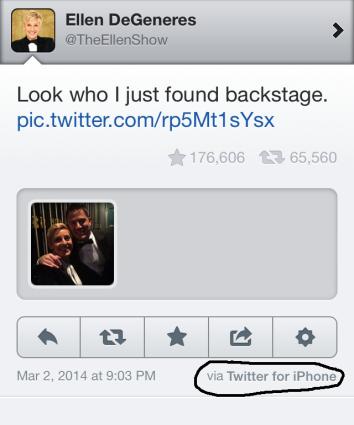 Ellen iPhone tweet