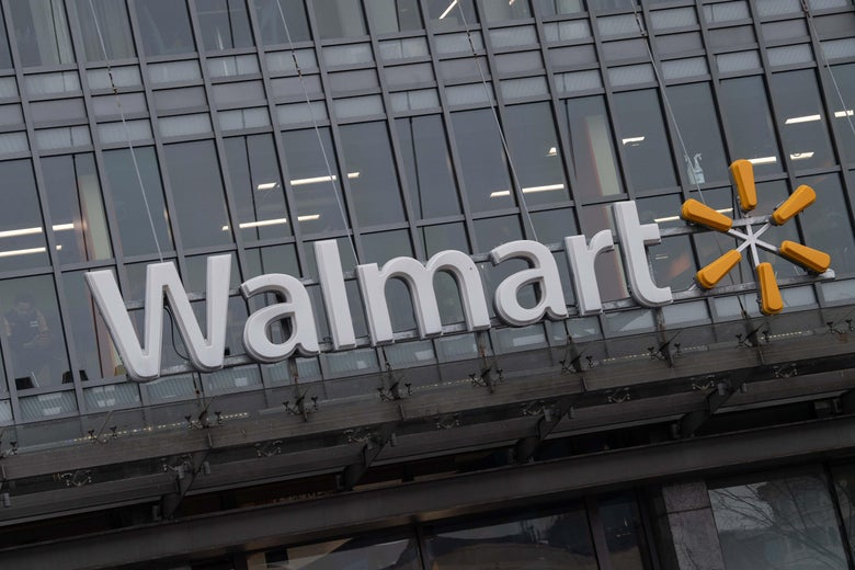 The Walmart logo, as seen on a store in D.C.
