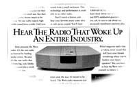 Bose Wave Radio advertisement