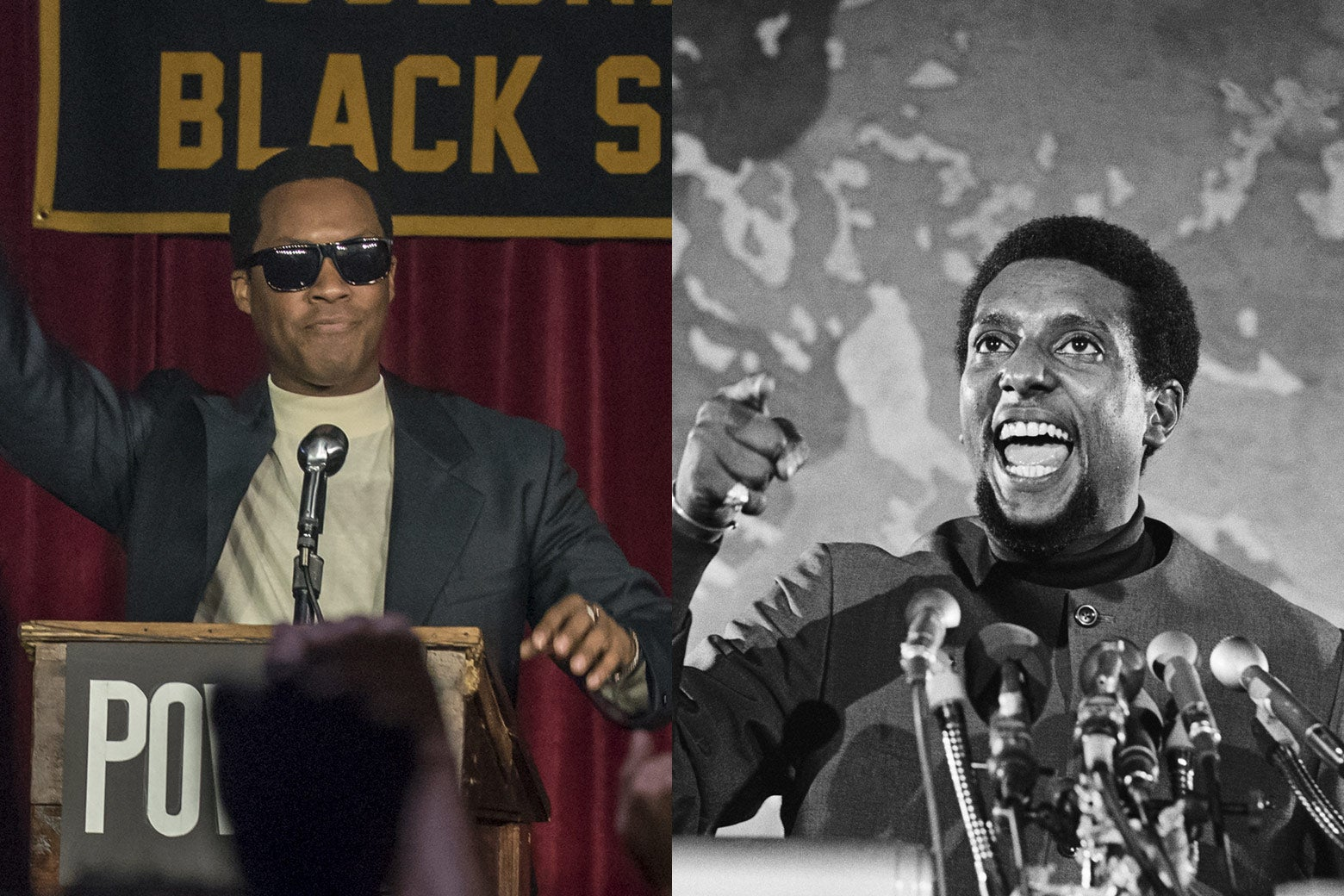 Corey Hawkins as Kwame Ture, Kwame Ture in Washington in 1970.