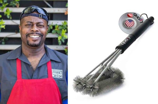 Rodney Scott and the grill brush.