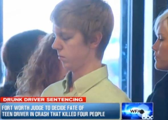 """Ethan Couch, 16, avoided prison time after his lawyers offered the """"affluenza"""" defense."""