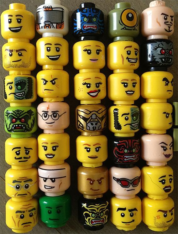 Lego faces angrier? New study says fewer smileys, more mad expressions.