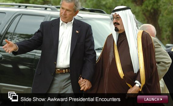 Slide Show: Awkward Presidential Encounters. Click image to expand.