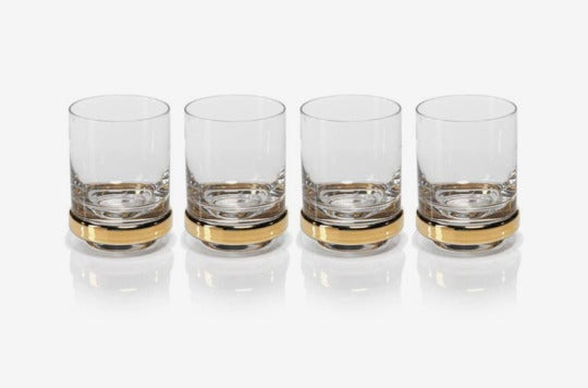 Zodax Artu Set of 4 Double Old Fashioned Glasses.