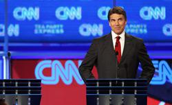 Gov. Rick Perry at the Sept. 12 debate. Click image to expand.