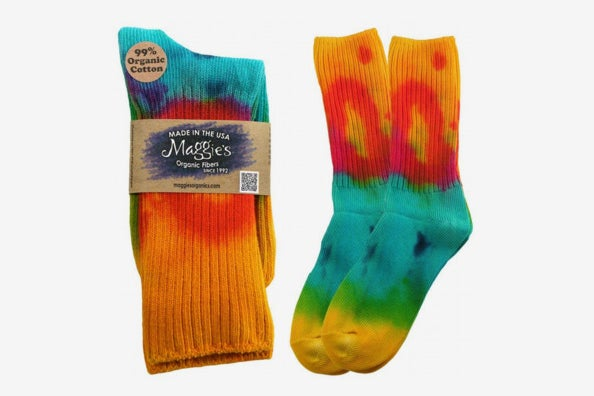 Maggie's Organics – Organic Cotton Tie Dye Crew Sock.